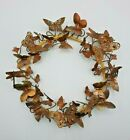 "Vintage Brass Metal Butterflies Wreath Dragonflies Bees 10"""