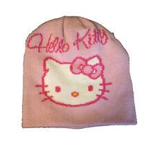 HELLO KITTY casquette mous e chaude laine rose e fuchsia de fille