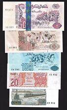 Algeria 10 to 500 DINARS 1983-1998 P 132-141 UNC LOT X 5 PCS
