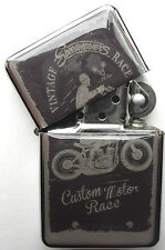 Vintage Motorbike Sign Windproof LIGHTER Speedmaster Race