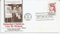 US Scott #1549, First Day Cover 10/12/74 Arlington Single Retarded Children