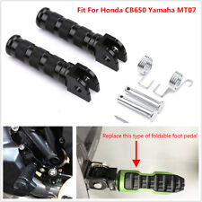 2x CNC Motorcycle Footpegs Rear Pedal Footrests Fit For Honda CB650 Yamaha MT07