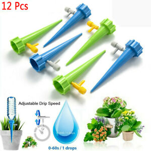 12 Pack Automatic Self Watering Spikes System Garden Home Plant Pot Waterer Tool