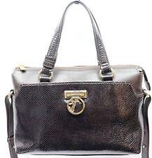 3ed01539727d Versace Collection Women Leather Crossbody Satchel Handbag Black