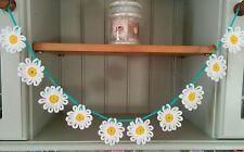 Handmade Crochet Daisy Bunting/Garland Wedding Nursery Conservatory Caravan