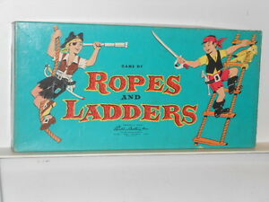 Vtg. 1954 Parker Brothers Game of Ropes & Ladders in Original Box