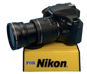 Super Wide angle fisheye + macro for Nikon D80 D90 D40 D60 D3200 D5200 D4X F4