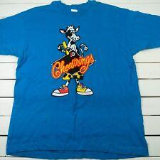 vtg Black Diamond Cheestrings Mens Graphic T-Shirt Sz XL Blue Promo - T3-5