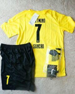 Dortmund #7 Sancho Kids Jersey Kit Age 6-13 Yrs Shirt, short, socks 2020 / 21