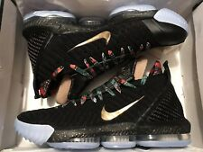 "online retailer b1710 485c5 Nike Lebron XVI 16 KC ""watch The Throne"" Sz 13 W  Lace Locks"