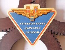 Etiquette Bagage Aviation SAS Scandinavian Airlines Luggage Labels 1950