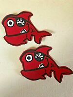 Children's Whimsical Sea Creatures - 2 - Iron-On Fabric Appliques.  (D)