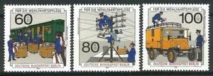 Germany Berlin 1990 MNH Post Telecommunications Parcel Van Telephone Lines