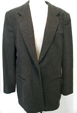 LANDS END Classic Gray Wool And Cashmere Jacket Size 16