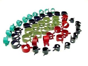 50x Ford Vacuum Fuel Hose Pinch Spring Clip Clamp Pack Clamps Clips Gas