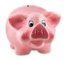Großes Sparschwein XL 26,5 cm Keramik, Geldgeschenk Spardose rosa Hochzeit, NEU