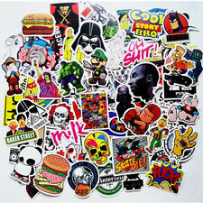 10Pcs Graffiti Decals Skateboard Car Guitar Bicycle Stickers Rock Cartoon Star