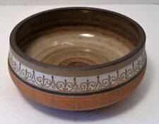 Vintage Signed J. Wright Pottery Dish Bowl, 1972, Kentucky Pottery