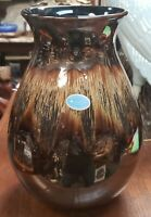 Vintage English Poole Pottery Iridescent Drip Glaze Vase