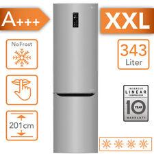 Kühlschrank LG A+++ Kühl-/Gefrierkombination 343 Liter NoFrost 201cm Edelstahl
