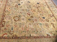 """VINTAGE MAHAL SULTANABAD DESIGN ORIENTAL RUG HAND KNOTTED  10' X 14' 4"""""""