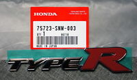 JDM Honda Civic FD2 Type-R Red Rear Badge Emblem OEM Genuine TypeR Type R