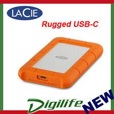 LaCie 1TB Rugged USB-C Portable External Hard Disk Drive USB 3.0 STFR1000400