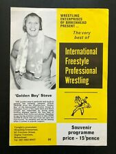 International Freestyle Prof. Wrestling Program (1982) Golden Boy Steve