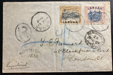 1897 Labuan North Borneo Registered Cover To London England SG#95a