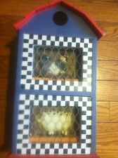 Chicken Hen Coop Pig Pen 2 Drawer Decor Farm Country Barn House Craft Checkers