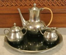 BEAUTIFUL 4 PIECE K.M.D. ROYAL HOLLAND DAALDEROP  COFFEE SET WITH TRAY