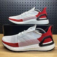 Adidas Ultra Boost 19 2019 White Scarlet EF1341 Ultraboost Men's Size 9