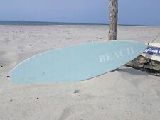 Letrero Tabla de Surf Turquesa verde. surf, arena, playa, BEACH
