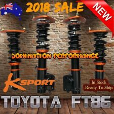 TOYOTA FT86 Coilover Kit - Fully Adjustable KSPORT Front & Rear Suspensions