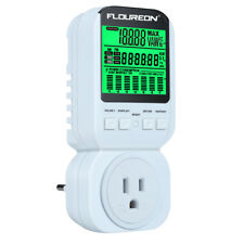 LCD Digital Power Meter Electricity Monitor Energy Watt Volt Amps kWh Analyzer