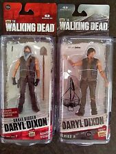 THE WALKING DEAD SERIES 6  & 7 DARYL DIXON GRAVE DIGGER  EXCLUSIVE. set (2) !!!!