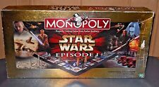 MONOPOLY STAR WARS EPISODE 1 COLLECTORS EDITION 3-D GAME BOARD HASBRO