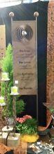 Edelrost Tafel Familie mit Kugel Schild Deko Garten Metall Rost Beetstecker