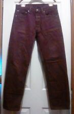 LEVIS #501 Button Fly - 100% Cotton - Made in Mexico - Purple JEANS - 32 X 31