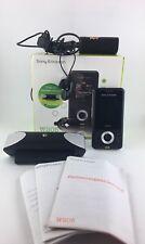 Sony Ericsson  Walkman W205 - Ambient Black (Ohne Simlock) Handy + OVP + Speaker