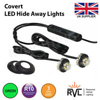 12v 24v Flashing LED HIDE AWAY LIGHTS, Light Bar Recovery Strobe Beacon GREEN