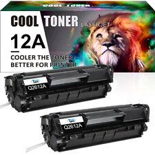 2 PACK Compatible for HP Q2612A 12A Toner LaserJet 1012 1010 1018 1020 3030 3020