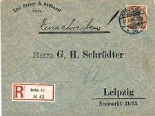 Ungeprüfte Briefmarken aus dem deutschen Reich (1900-1918) mit Einzelfrankatur