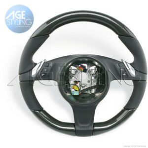 OEM Porsche Cayenne 958 Panamera 970 CARBON FIBER HEATED Leather Steering Wheel