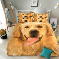 Quilt/Doona/Duvet Cover Set Single/Double/Queen/King Bed Golden Retriever