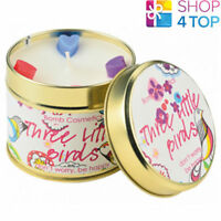 THREE LITTLE BIRDS TINNED CANDLE TIN BOMB COSMETICS FRUIT SCENTED NEW