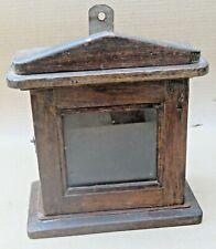 Vintage Mini Cabinet Wooden wall fixing Display key storage multi use Decor