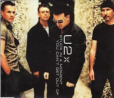 (-0-) U2 stuck in a moment You Can't get out of Rare 3 Track cd single (-0-)