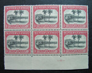 Western Samoa 1935 Scott #167 Inverted WMK SG #181w MNH OG Block - SG £600.00!