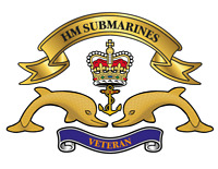 """HM SUBMARINES   STICKER X 2 BRITISH ARMED FORCES MILITARY REGIMENT  5"""" approx"""